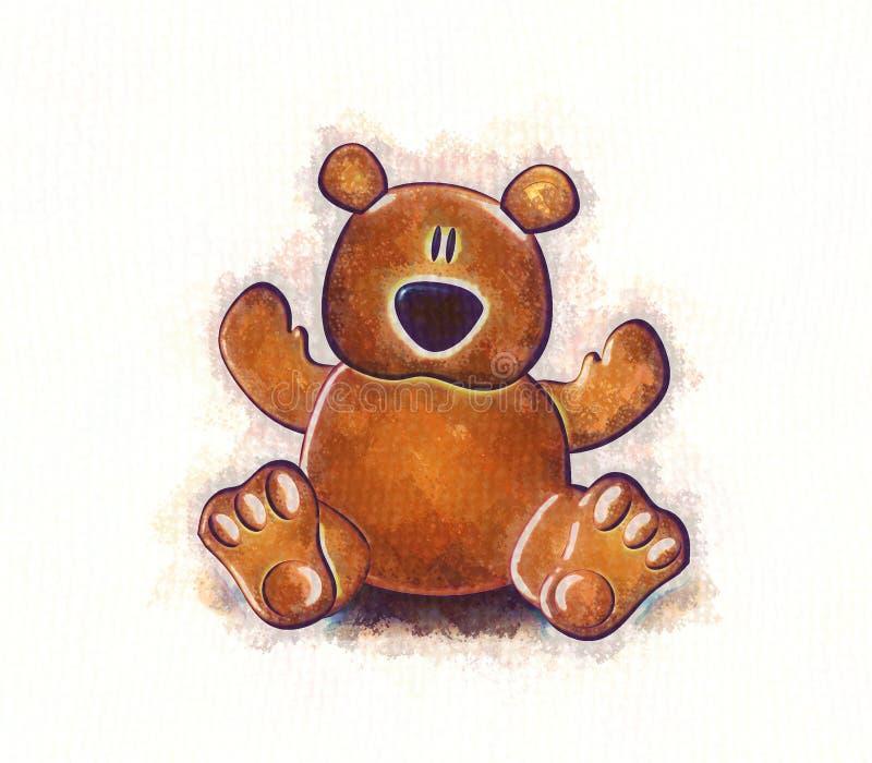 De Schets van de teddybeer royalty-vrije illustratie