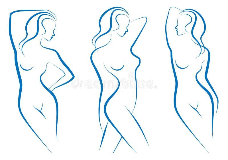 De schets van de vrouw,   vector illustratie