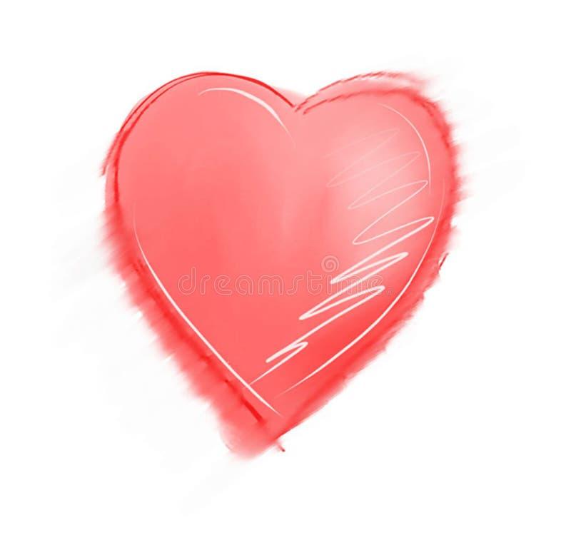 De Schets van het hart stock illustratie