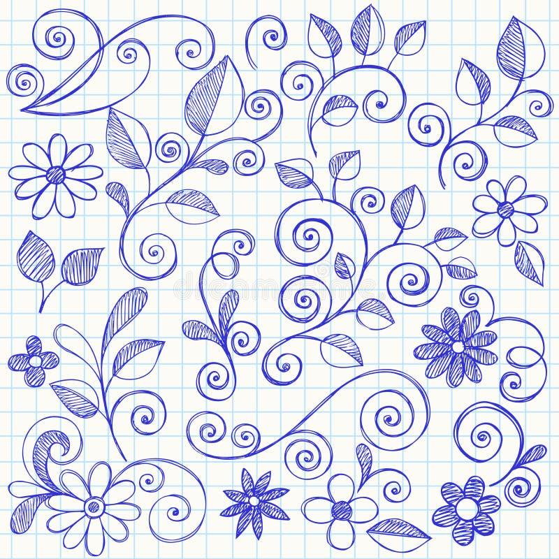 De schetsmatige Krabbels van het Notitieboekje van Bladeren en van Wijnstokken