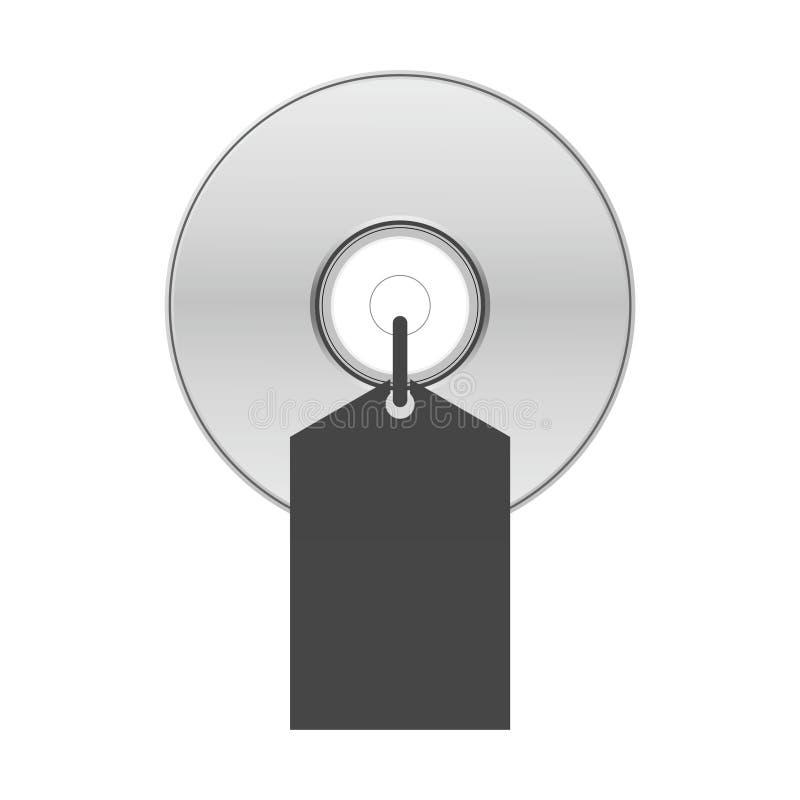 De schijf van blauw-Ray, van DVD of CD met etiketverkoop stock illustratie