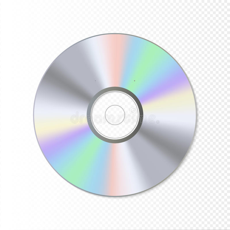 De schijf van DVD of CD Blauw-Ray technologie vectorillustratie Muziek correcte gegevens stock illustratie