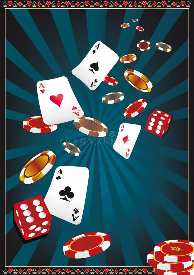 De schijnwerper van het casino vector illustratie