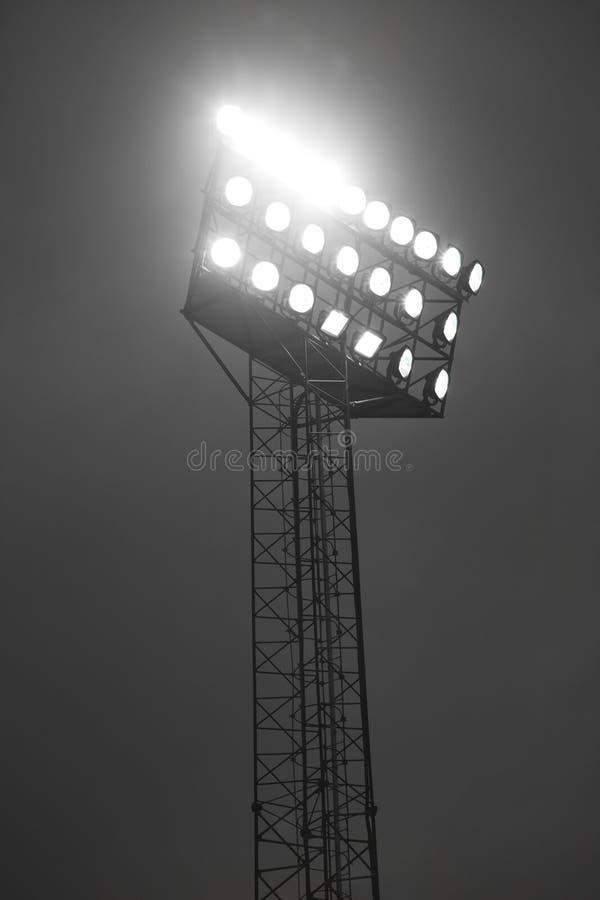 De schijnwerpers van het stadion royalty-vrije stock afbeelding