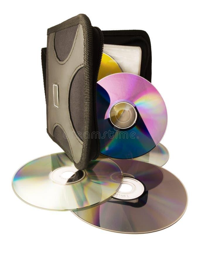 De schijven digitale witte van de computer dvd CD als achtergrond stock fotografie