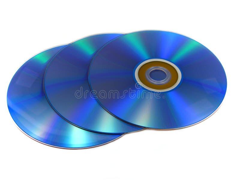 De schijven van DVD of CD stock foto