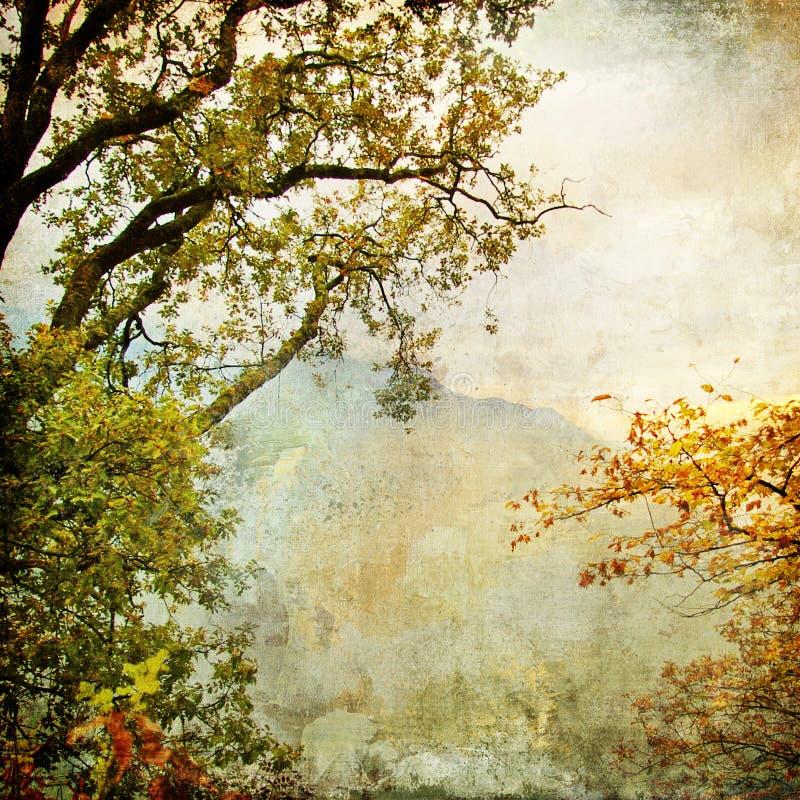 De schilder herfst stock illustratie