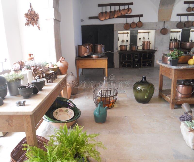 De schilderachtige keuken van het Paleis van DA Pena, Sintra stock fotografie