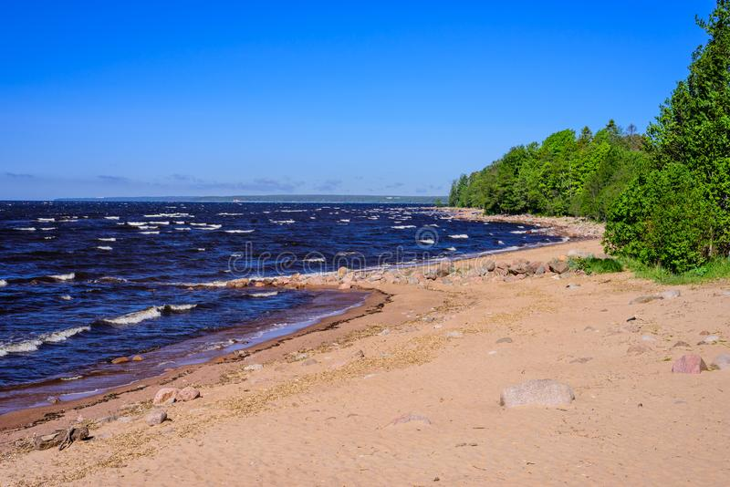 De schilderachtige kustlijn van de Oostzee royalty-vrije stock afbeeldingen