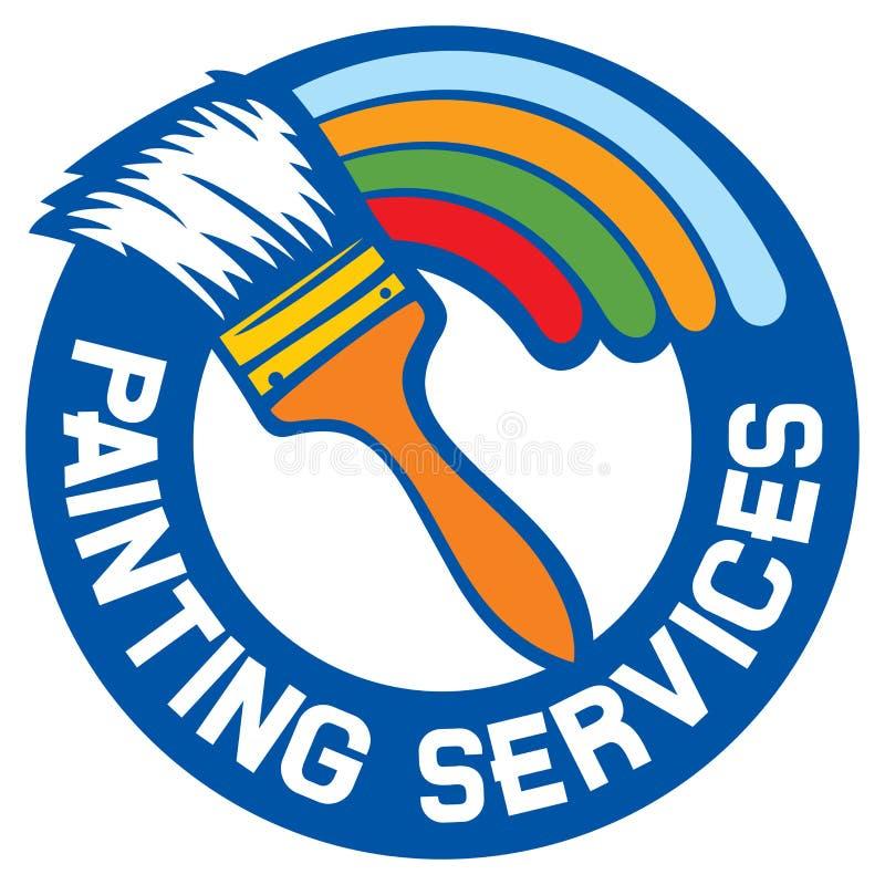 De schilderende diensten royalty-vrije illustratie