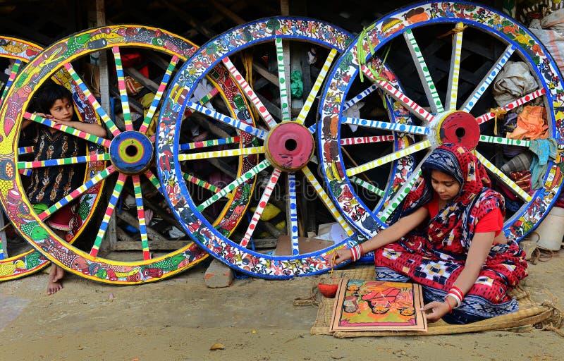 De Schilderijen van Bengalen Patachitra royalty-vrije stock afbeelding