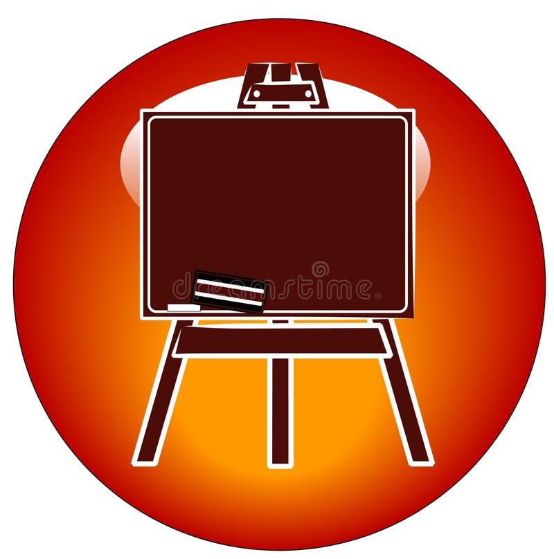 De schildersezelpictogram van het bord   vector illustratie