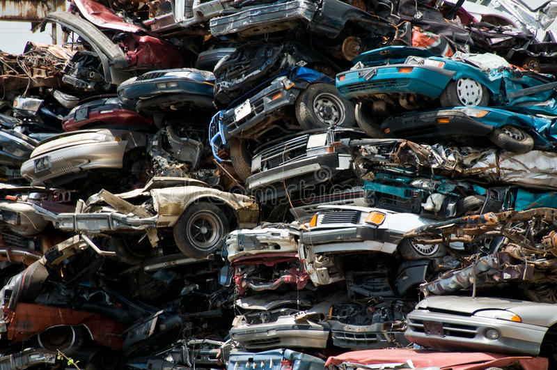 De schipbreuk van het consumentisme stock fotografie