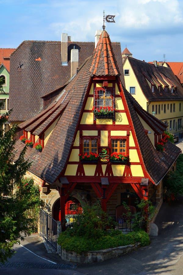 De schitterende Duitse Bouw, Alte Schmiede royalty-vrije stock afbeeldingen