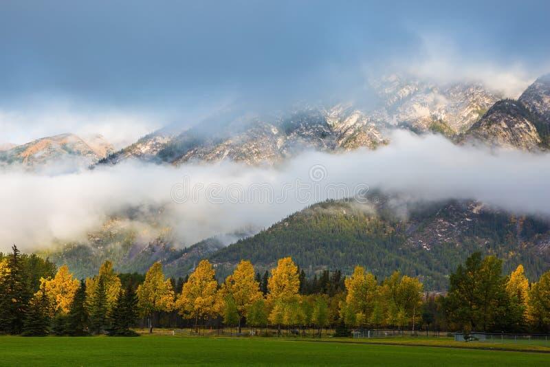 De schitterende herfst in Rocky Mountains stock fotografie
