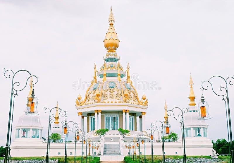 De schitterende tempel in Khon Kaen, Thailand stock afbeelding
