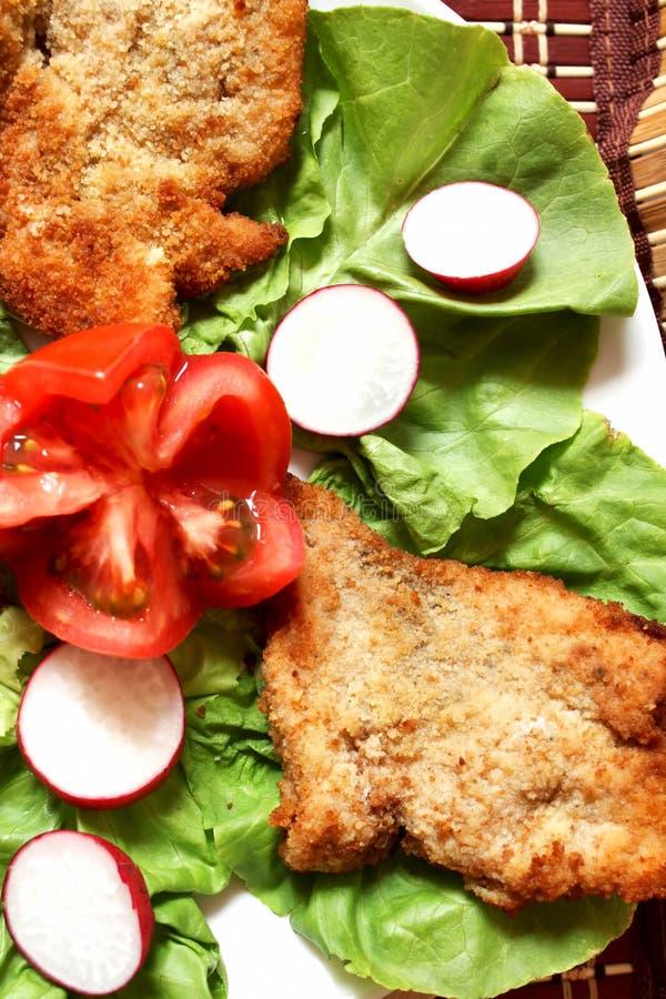 De schnitzel van de kip stock afbeelding
