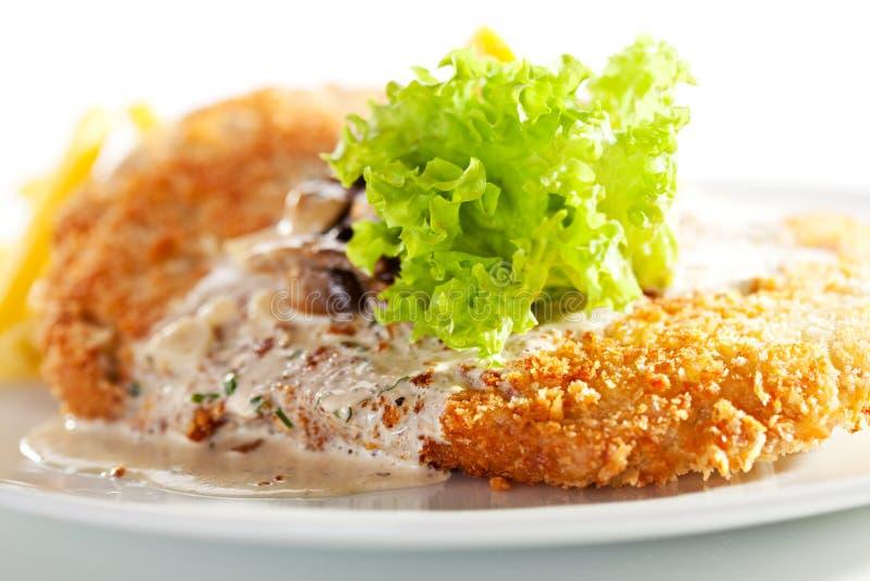 De Schnitzel van Wenen stock afbeelding