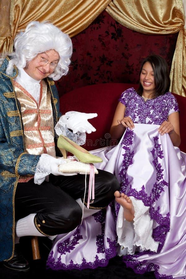 De schoen van Cinderella stock foto's