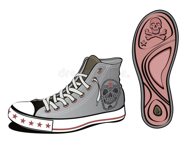De schoen van de schedel vector illustratie