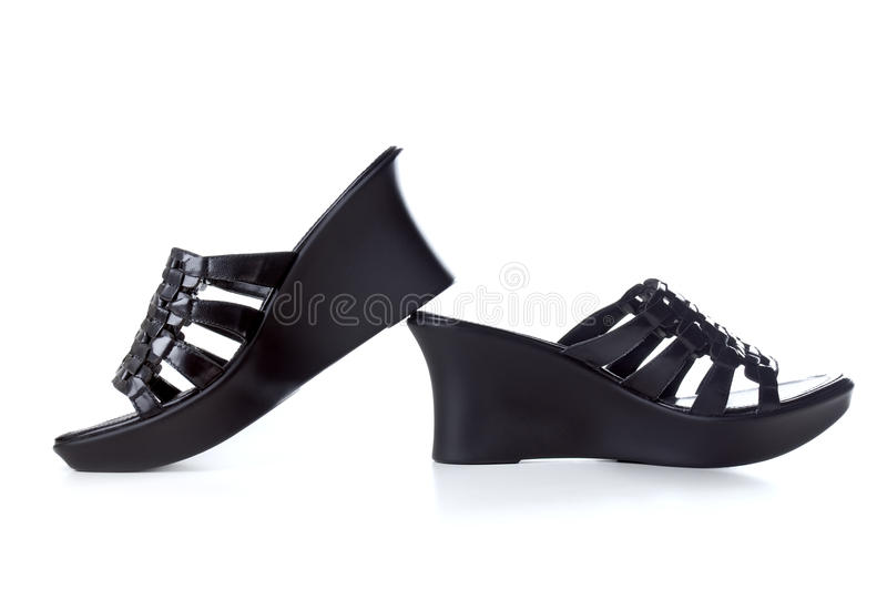 De schoen van de vrouw stock foto