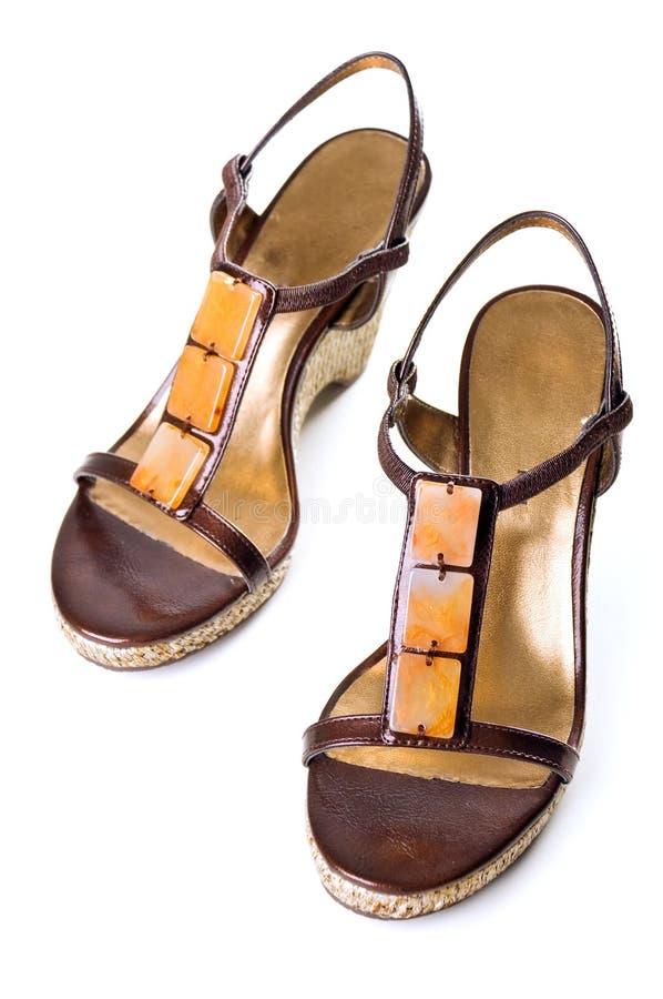 De schoen van de vrouw royalty-vrije stock afbeelding