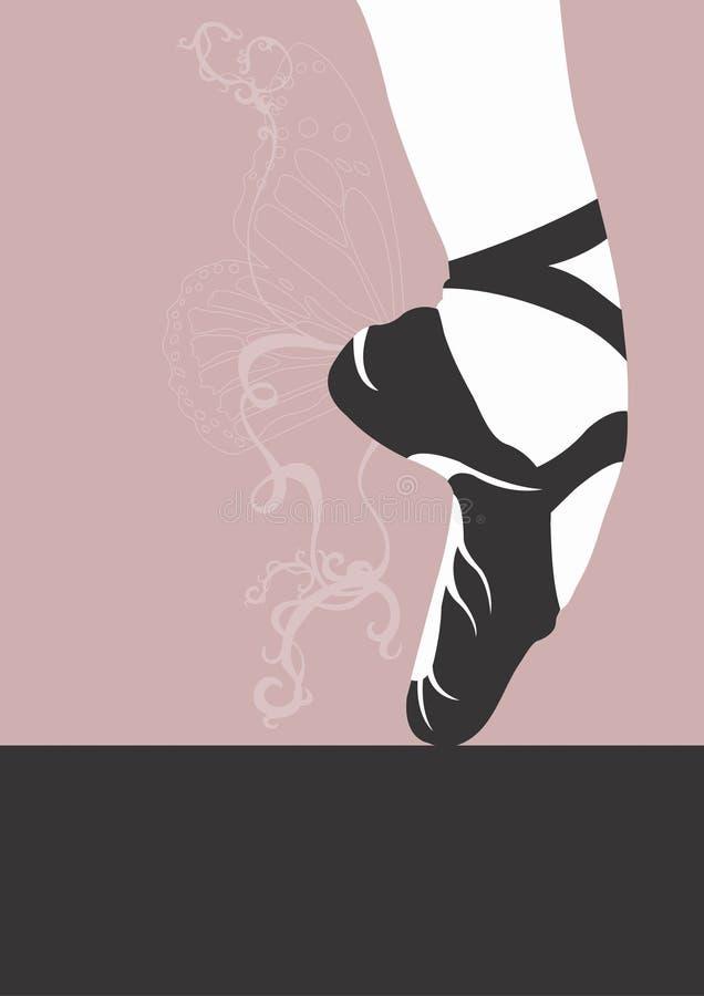 De schoen van het ballet stock illustratie