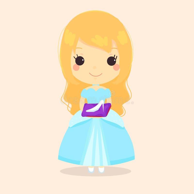 De schoen van het Cinderella fairytale glas stock afbeelding