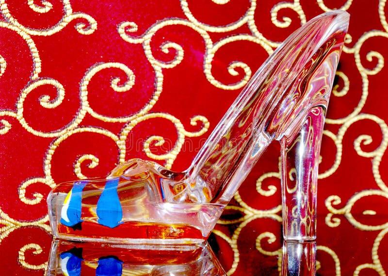De schoen van het glas. stock foto's