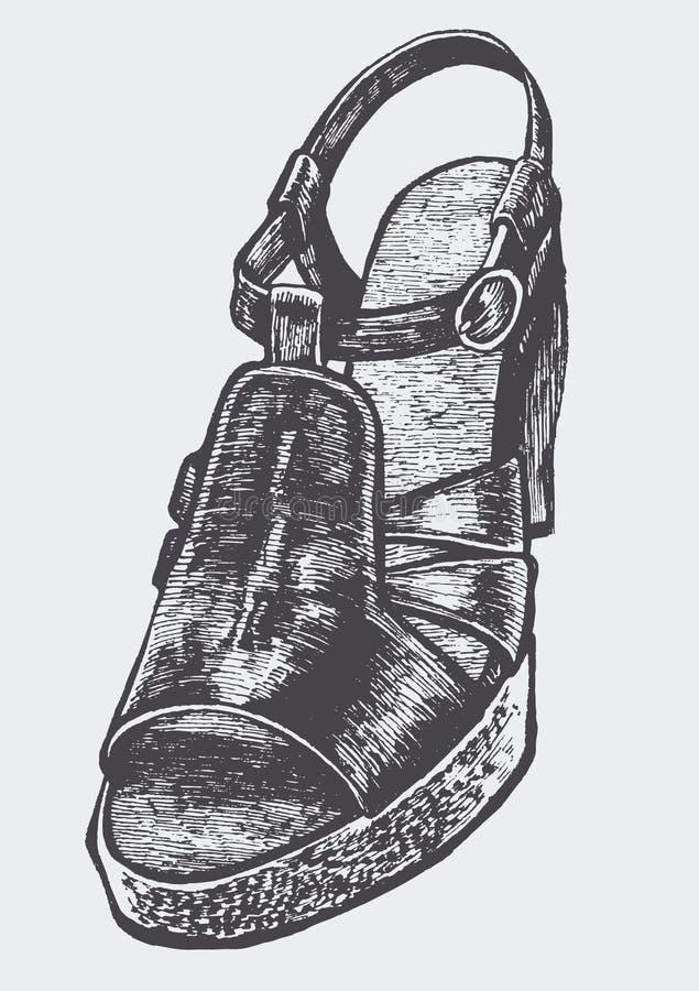 De schoen van vrouwen vector illustratie