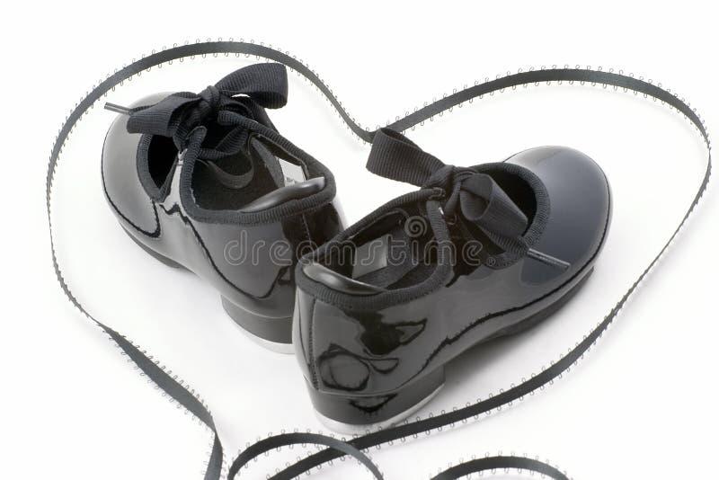 De schoenen en het hart van de tapdans royalty-vrije stock foto