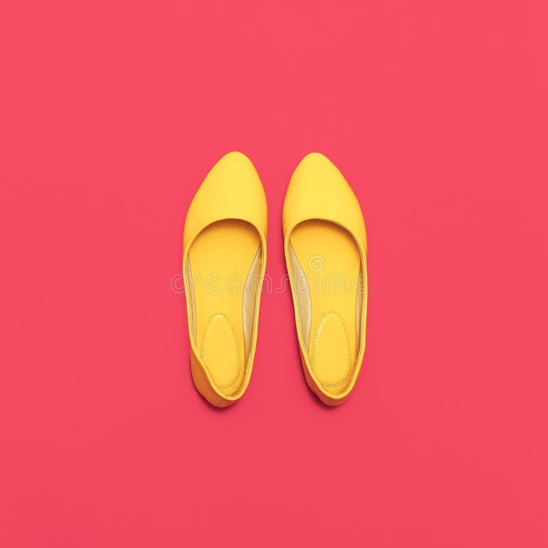 De schoenen van betoverende Dames stock afbeelding