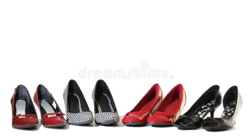 De schoenen van dames. stock fotografie
