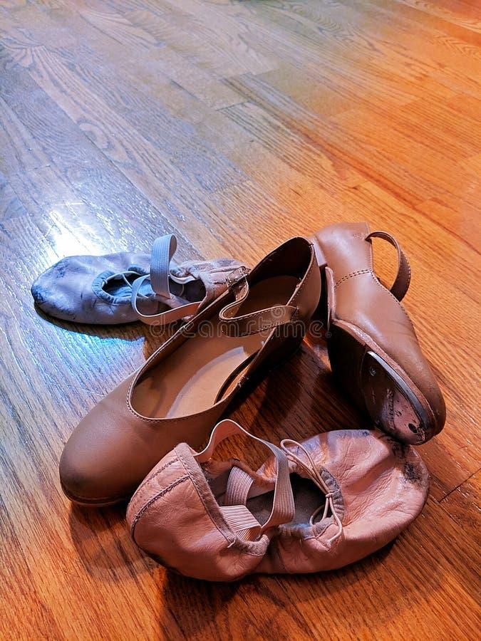 De schoenen van de dans royalty-vrije stock afbeeldingen
