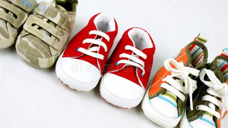 De schoenen van de baby stock afbeelding