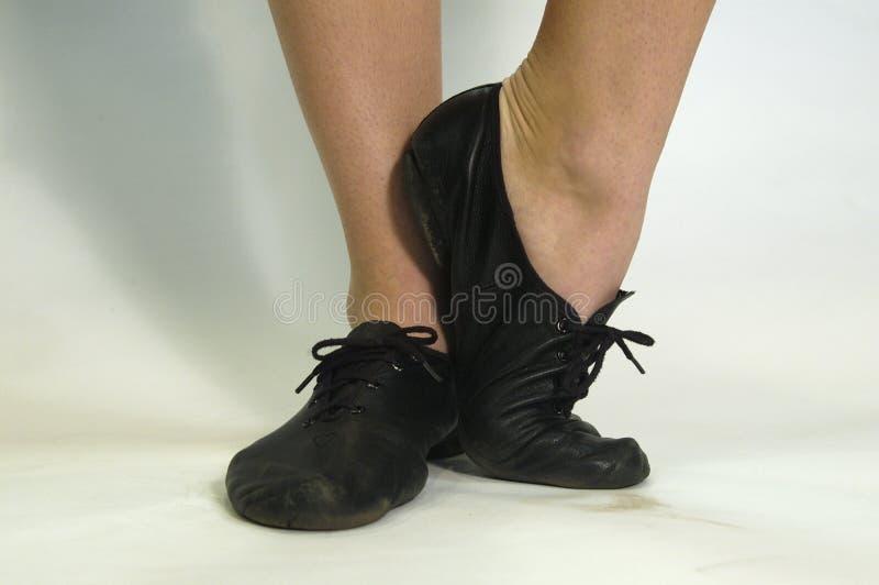 de schoenen van de jazzdans royalty-vrije stock afbeeldingen