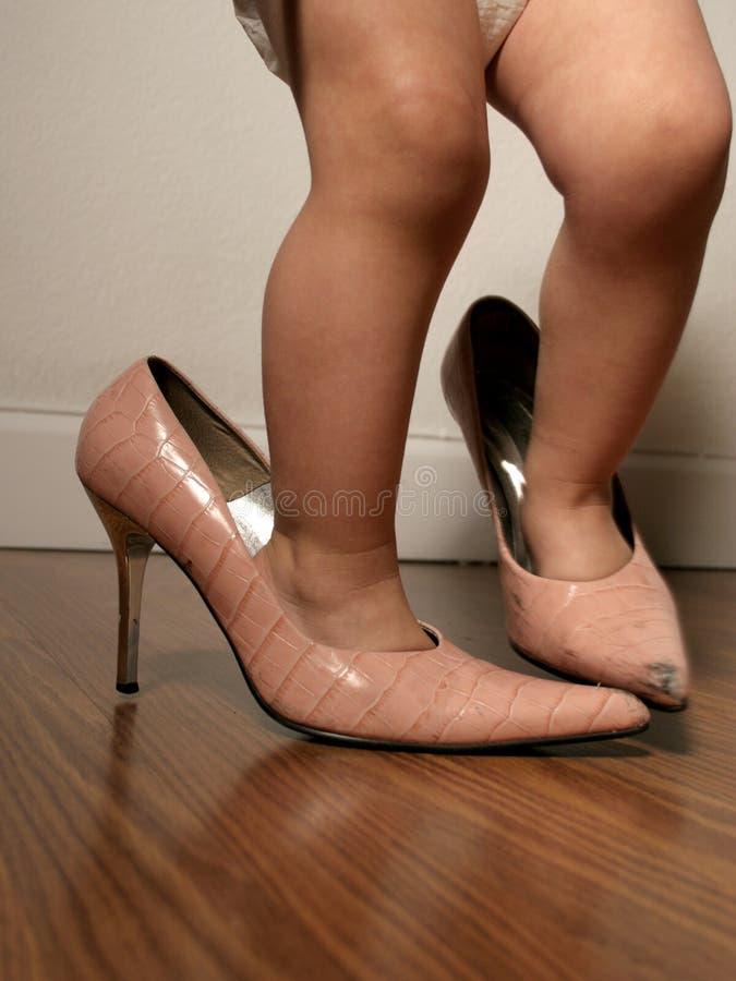 De Schoenen Van De Mama Royalty-vrije Stock Fotografie