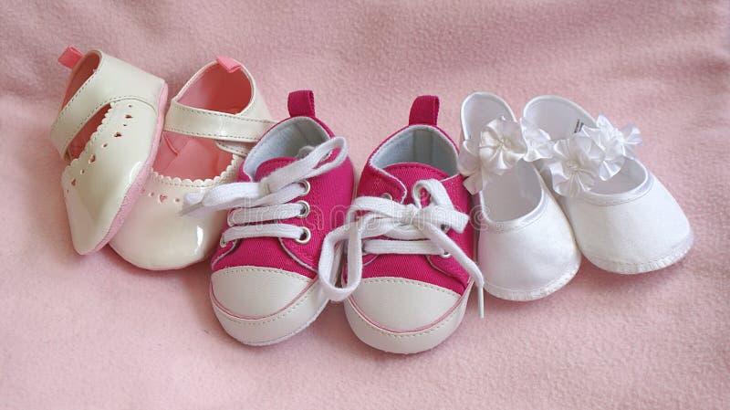 De Schoenen van de Meisjes van de baby stock afbeelding