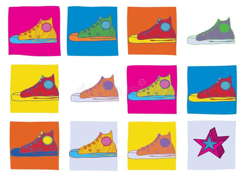 De schoenen van de sport royalty-vrije illustratie