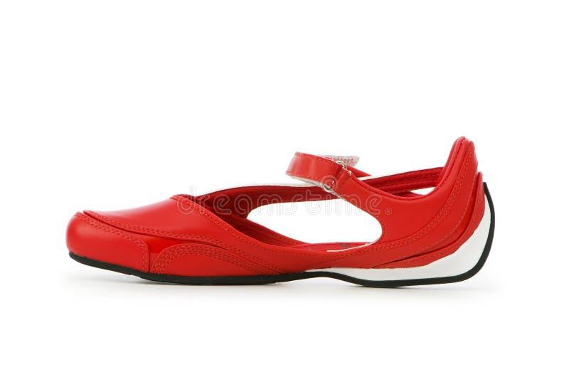 De schoenen van de sport die op het wit worden geïsoleerd royalty-vrije stock afbeelding