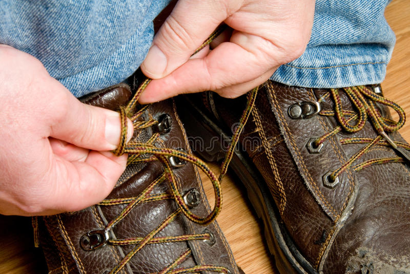 De Schoenen van de veiligheid stock afbeeldingen