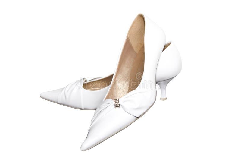 De schoenen van het huwelijk royalty-vrije stock foto's