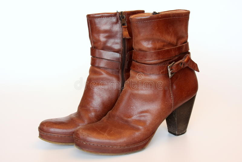 De schoenen van het leer stock afbeelding