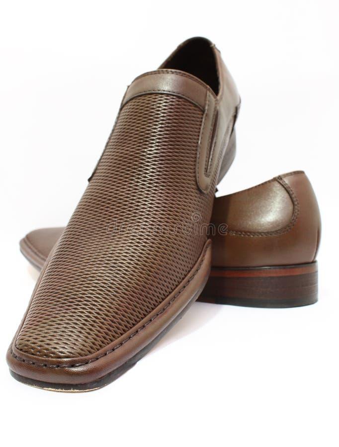 De schoenen van het leer stock foto's