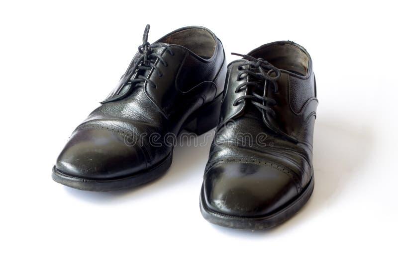 De schoenen van het mensen` s leer royalty-vrije stock foto's