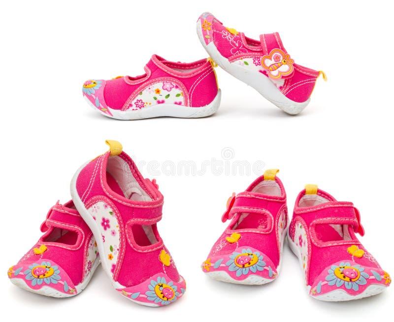 De schoenen van jonge geitjes royalty-vrije stock foto's