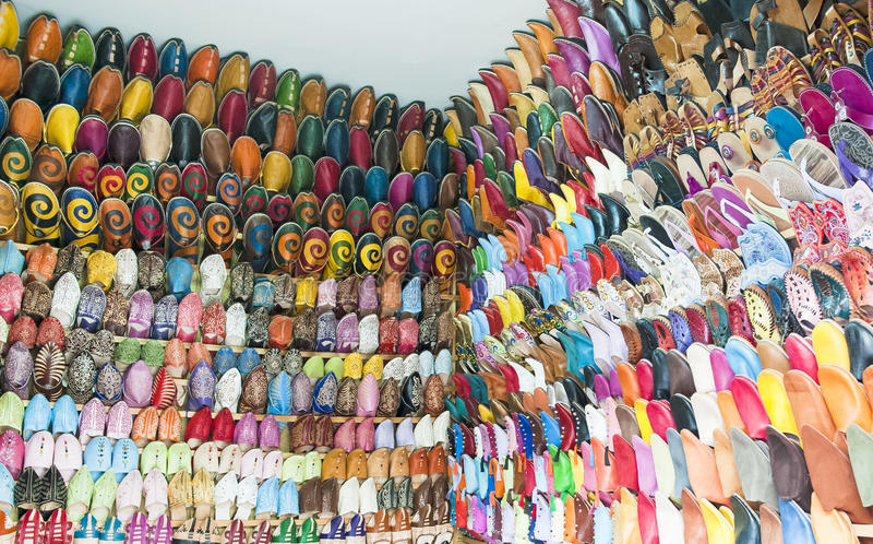 De Schoenen Van Maroccan Royalty-vrije Stock Afbeeldingen