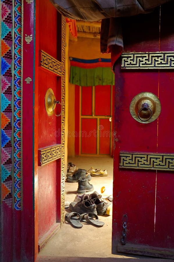 De schoenen van monniken royalty-vrije stock afbeelding