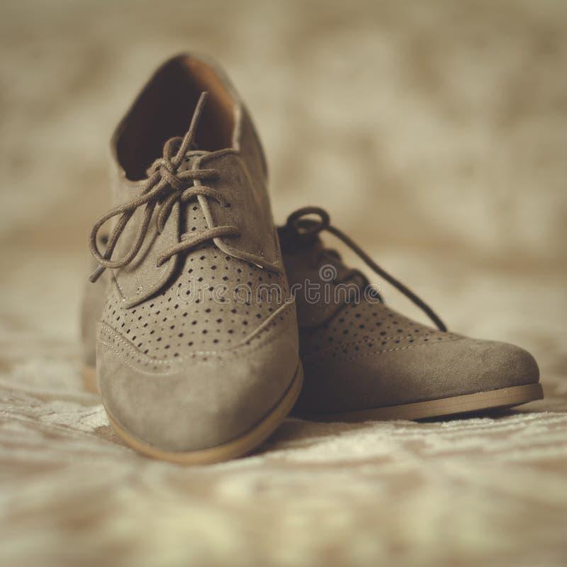 De schoenen van Oxford royalty-vrije stock afbeelding