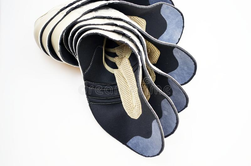 De schoenen van de productieontwerper, lezingen royalty-vrije stock afbeeldingen